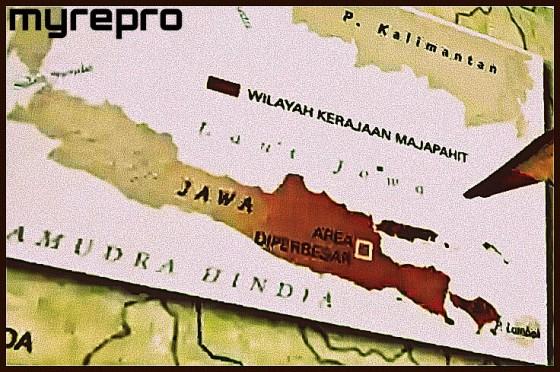 Wilayah Kerajaan Majapahit hanya Jawa Tengah dan Jawa Timur. Bukan Nusantara (sumber: nationalgeographic.co.id)