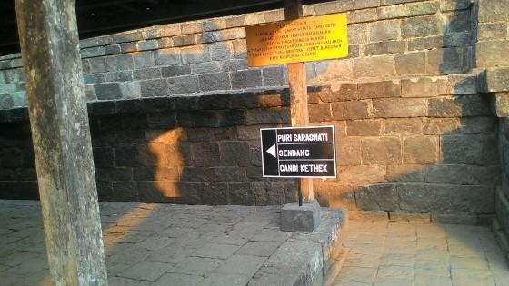 Akses Jalur dari Candi Cetho menuju Komplek Puri Saraswati