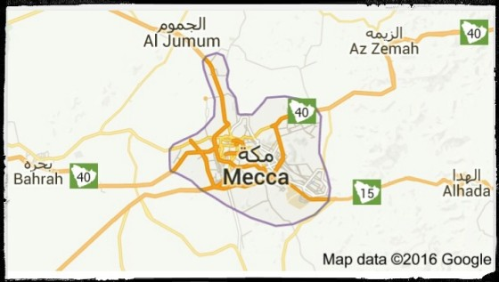Mecca Saudi Arabia. (Google Maps)