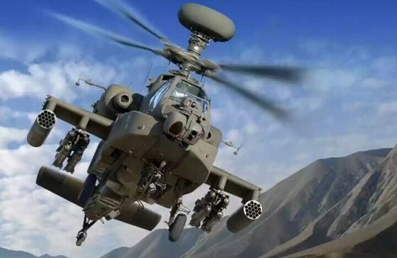Helikopter serang AH64E Apache.