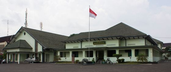 Markas TKR pertama, terletak di Gondokusuman, Yogyakarta; saat ini menjadi Museum Dharma Wiratama. (Wikipedia)