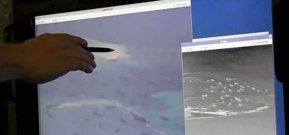Cina mendaratkan dua pesawat di pulau sengketa di Laut Cina Selatan. (Intelijen)