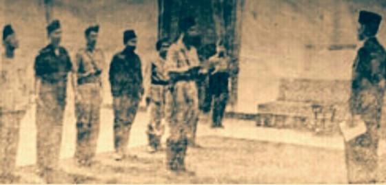 Pelantikan Soedirman di Istana Negara. (wikipedia)