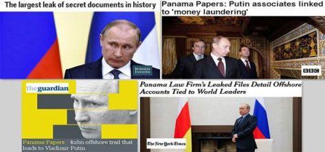 Presiden Rusia Vladimir Putin jadi bulan-bulanan media dunia meski tak masuk daftar Panama Papers. (Intelijen.Co via Russia Today)