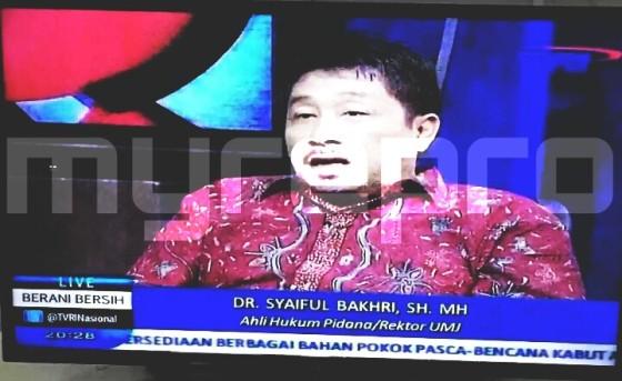 Ketua Majelis Hukum PP Muhammadiyah yang juga Rektor Universitas Muhammadiyah Jakarta, Syaiful Bakhri.