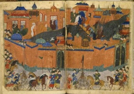 Pasukan Hulagu mengepung tembok Baghdad. (wikipedia)