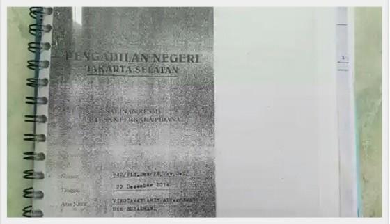 Salah satu bahan investigasi gue adalah putusan hukum PN jaksel yah..gue screen capture biar lo yakin gue sdh proper