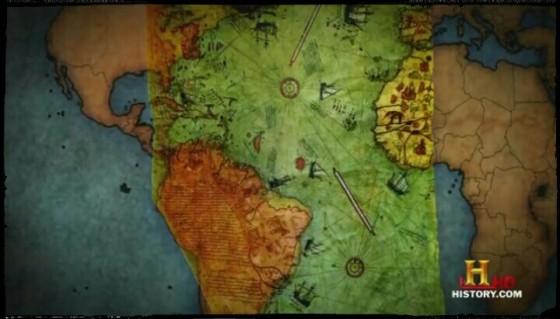 Piri Reis Map menggambarkan pesisiran Brasil secara akurat