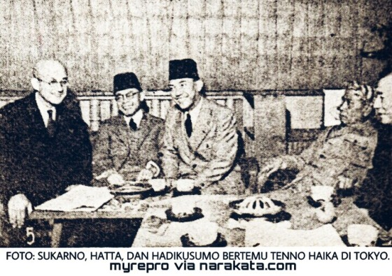 Foto kenangan Sukarno, Hatta dan Ki Bagus Hadikusumo
