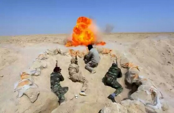 Salah satu suasana pertempuran di Kobani