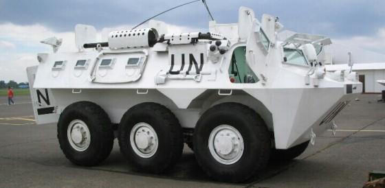 Anoa saat digunakan di Lebanon untuk misi perdamaian