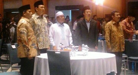 Gubernur DKI Jakarta Basuki Tjahaja Purnama mengawali kegiatan hari ini dengan berkumpul bersama para ulama di Jakarta Islamic Center (JIC), Koja, Jakarta Utara. (Suaracopas.web.id)