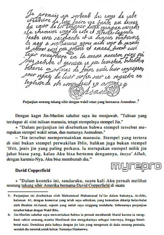 Dialog dengan Jin Muslim, Isa Dawud, membahas David Copperfield.
