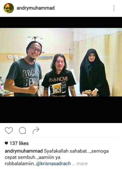 Andry Muhammad saat mengunhungu Krisna Sadrach. (Foto: Instagram)