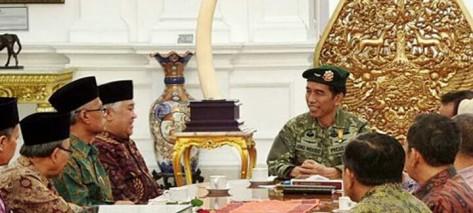 Joko Widodo dan Petinggi Muhammadiyah (jibi)