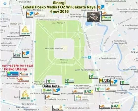 Lokasi Pos Medis (Sumber: Lazismu)