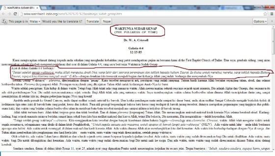 Dalam gambar yang kami ambil dari link http://www.wacriswell-indo.org/natal%202%20-%20waktunya_sudah_genap.htm dengan jelas, bahwa istilah 'sudah genap' adalah istilah dalam bible Galatia Pasal 4 ayat 4 yang dimaksudkan tuhan allah mengutus anaknya pada waktu yang sempurna. Artinya tidak perlu ada lagi utusan karena sudah sempurna. Mungkin itu arti kurang lebihnya dari ayat bible itu.