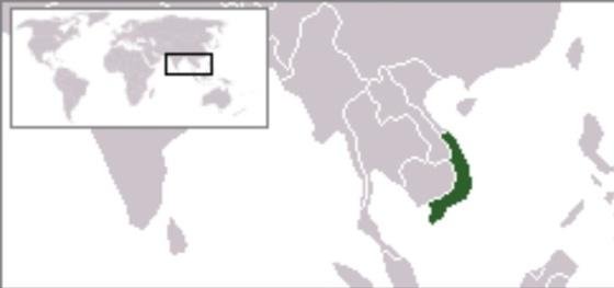 Lokasi Vietnam Selatan di Asia Tenggara (wikipedia)