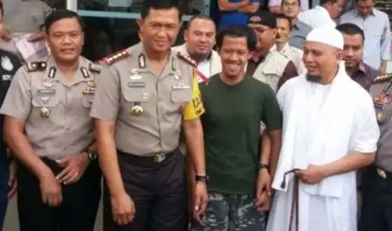Nurul Fahmi, aktivis pembawa bendera bekalimat tauhid dibebaskan. (Kininews/Rakisa)